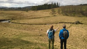 Cairngorm National Park surveying the Speyside Way for an upgrade
